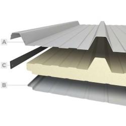 Pannello Coibentato Grecato Alutech Dach Bianco Grigio Alubel - 2