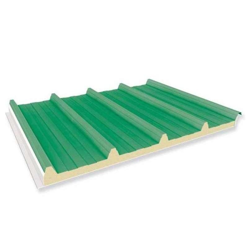 Pannello Coibentato Grecato Alutech Dach Verde Muschio Alubel - 1