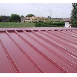 Pannello Coibentato Grecato Declassato Alutech Dach Rosso Siena Alubel - 13