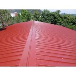 Pannello Coibentato Grecato Declassato Alutech Dach Rosso Siena Alubel - 8