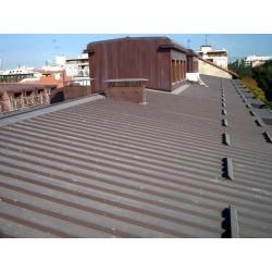 Pannello Coibentato Grecato Declassato Alutech Dach Testa di Moro Alubel - 6