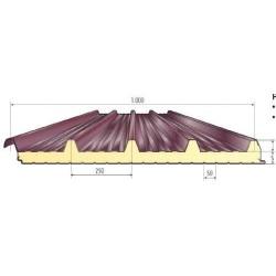 Pannello Coibentato Grecato Declassato Alutech Dach Testa di Moro Alubel - 1