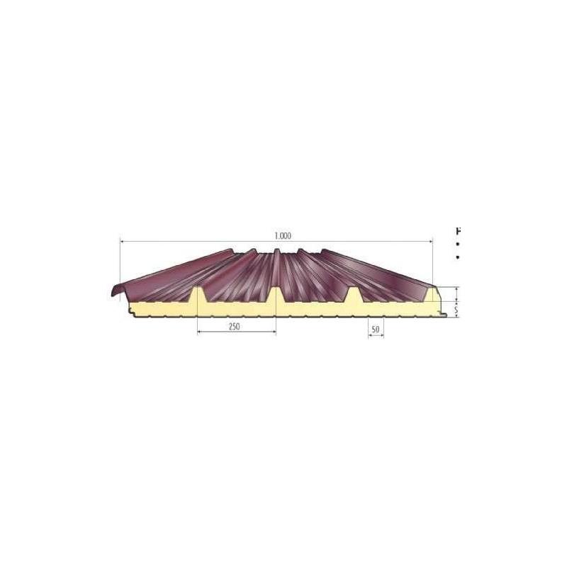 Griechische Isolierung Panel herabgestuft Alutech Dach Moro Kopf Alubel - 1