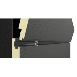 Easy Wand Grau Silber isoliert Panel Alubel - 4