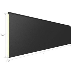 Easy Wand Grau Silber isoliert Panel Alubel - 2