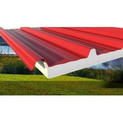 Panel Griechisch Coibentato Alutech Dach Rosso Siena Alubel - 1