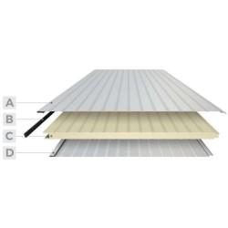 Panel isoliert Herabgestuft Alutech Wand Weiß Grau Alubel - 2