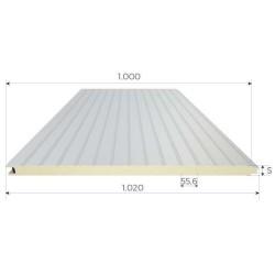 Panel isoliert Herabgestuft Alutech Wand Weiß Grau Alubel - 1