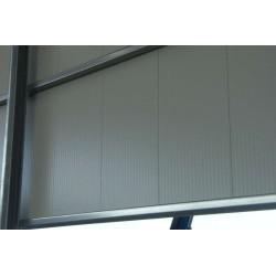 Panel isoliert Herabgestuft Alutech Wand Weiß Grau Alubel - 6