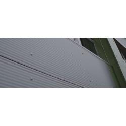 Panel isoliert Herabgestuft Alutech Wand Weiß Grau Alubel - 5