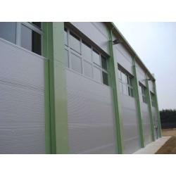 Panel isoliert Herabgestuft Alutech Wand Weiß Grau Alubel - 7