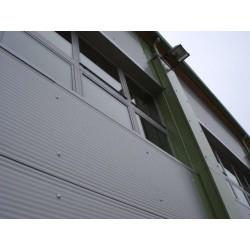 Panel isoliert Herabgestuft Alutech Wand Weiß Grau Alubel - 9